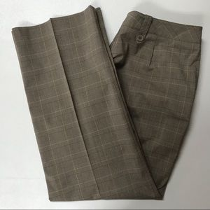 Larry Levine Pants 12P Plaid Flat Front Pockets